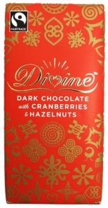 Divine Mörk Choklad med Tranbär och Hasselnötter