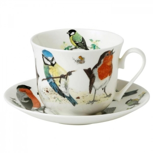 Tekopp med fat Garden Birds - Roy Kirkham