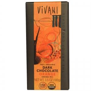 Vivani Mörk Choklad med Apelsin - 100 gr