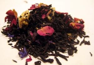 Blåbärspaj med grädde - svart te