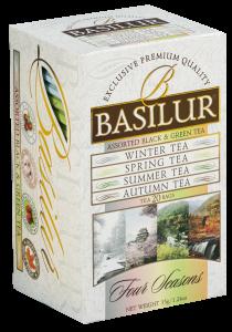 Basilur Four Seasons - svart och grönt te - 20 tepåsar