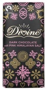 Divine Mörk Choklad med Pink Himalayan Salt - 100 g