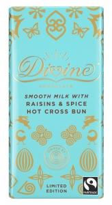 Divine Mjölkchoklad med Russin och Kryddor (Hot Cross Bun)