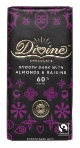 Divine Mörk Choklad med Russin och Mandel