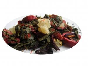 Granatäpple och Tranbär - gult te