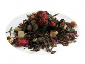 Hallon och Grädde - grönt te