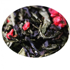 Hallon och Havtorn - ekologiskt svart och grönt te