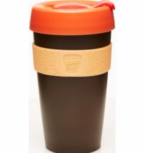 Keepcup Builder Large - brun orange röd