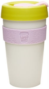 Keepcup Lover Large - vit lila gul rosa