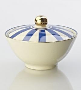 Blåvit sockerskål / pralinskål - Kerstin Tillberg