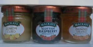 Mackays marmelader - giftpack med 3 st
