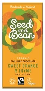 Seed and Bean Mörk Choklad med Söt Apelsin och Timjan