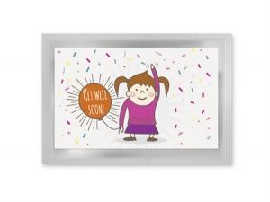 Get Well - vykort med te (fraktfritt)