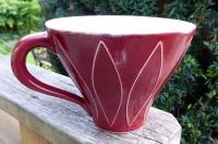 Temugg Harlequin Mörkröd - Ulrika Ahlsten Keramik