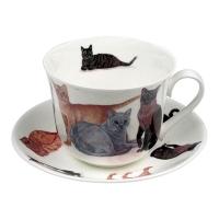 Tekopp med fat Katter - Roy Kirkham