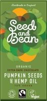 Seed and Bean Extra Mörk Choklad med Pumpa och Hampa