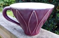 Tekopp Harlequin Plommon - Ulrika Ahlsten Keramik