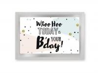 Birthday - vykort med te (fraktfritt)