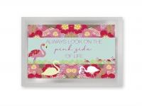 Flamingo - vykort med te (fraktfritt)