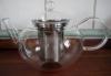 Tekanna i glas med stålsil - 1,2 liter