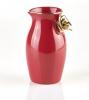 Röd mjölkkanna med ros - Kerstin Tillberg