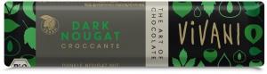 Vivani mörk choklad med nougatkrokant - 35 g