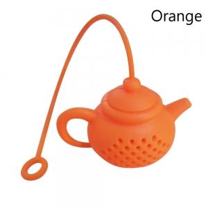 Tekanneformad tesil i silikon - orange